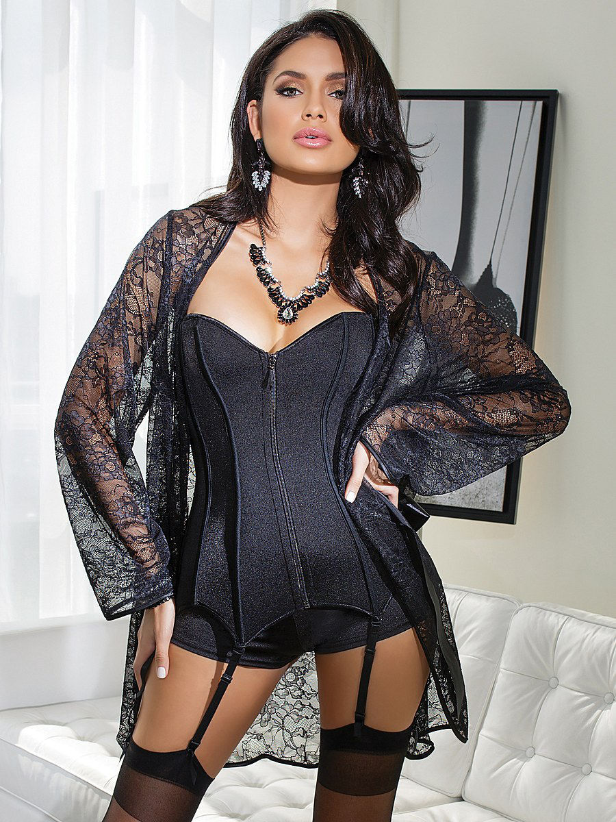 Халат Coquette Lingerie 3708/black