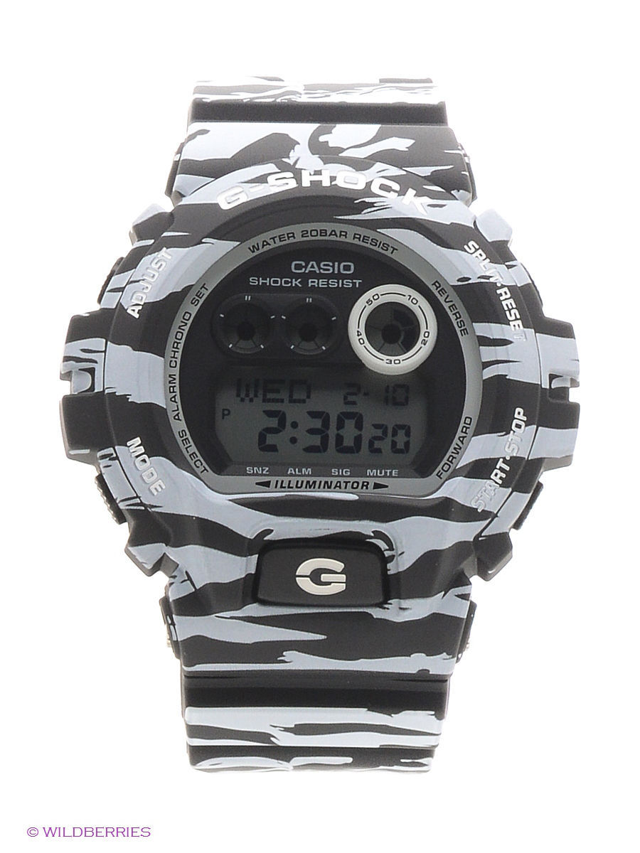 Часы наручные CASIO Часы G-Shock GD-X6900BW-1E casio часы casio gw 9300cm 1e коллекция g shock