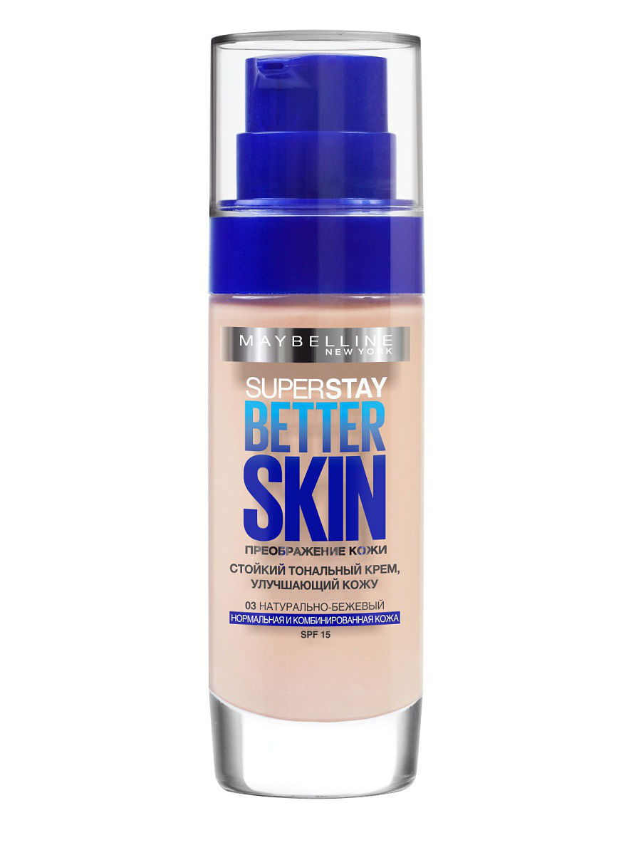 "��������� ���� ��� ���� ""SuperStay. Better Skin"", �������, ������� 03, ����������-�������, 30 �� Maybelline New York B2819302"