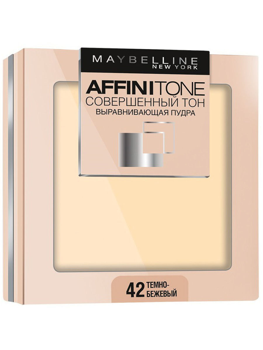 Пудры Maybelline New York Пудра для лица Affinitone, выравнивающая и матирующая, 42 темно-бежевый, 9  г пудра maybelline new york affinitone powder цвет 17 розово бежевый variant hex name f5e8e0 вес 50 00