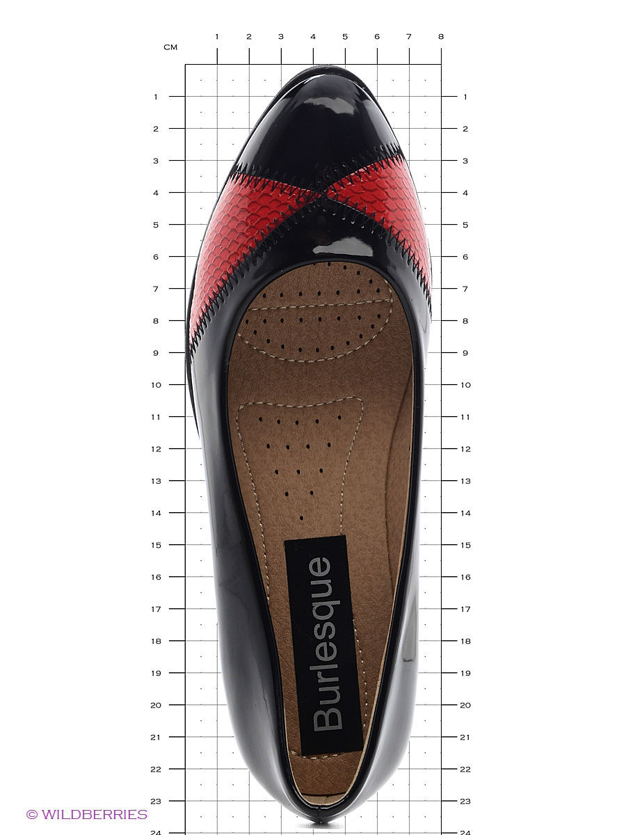 Туфли на каблуке Burlesque HRC15134-22/black-red: изображение 5