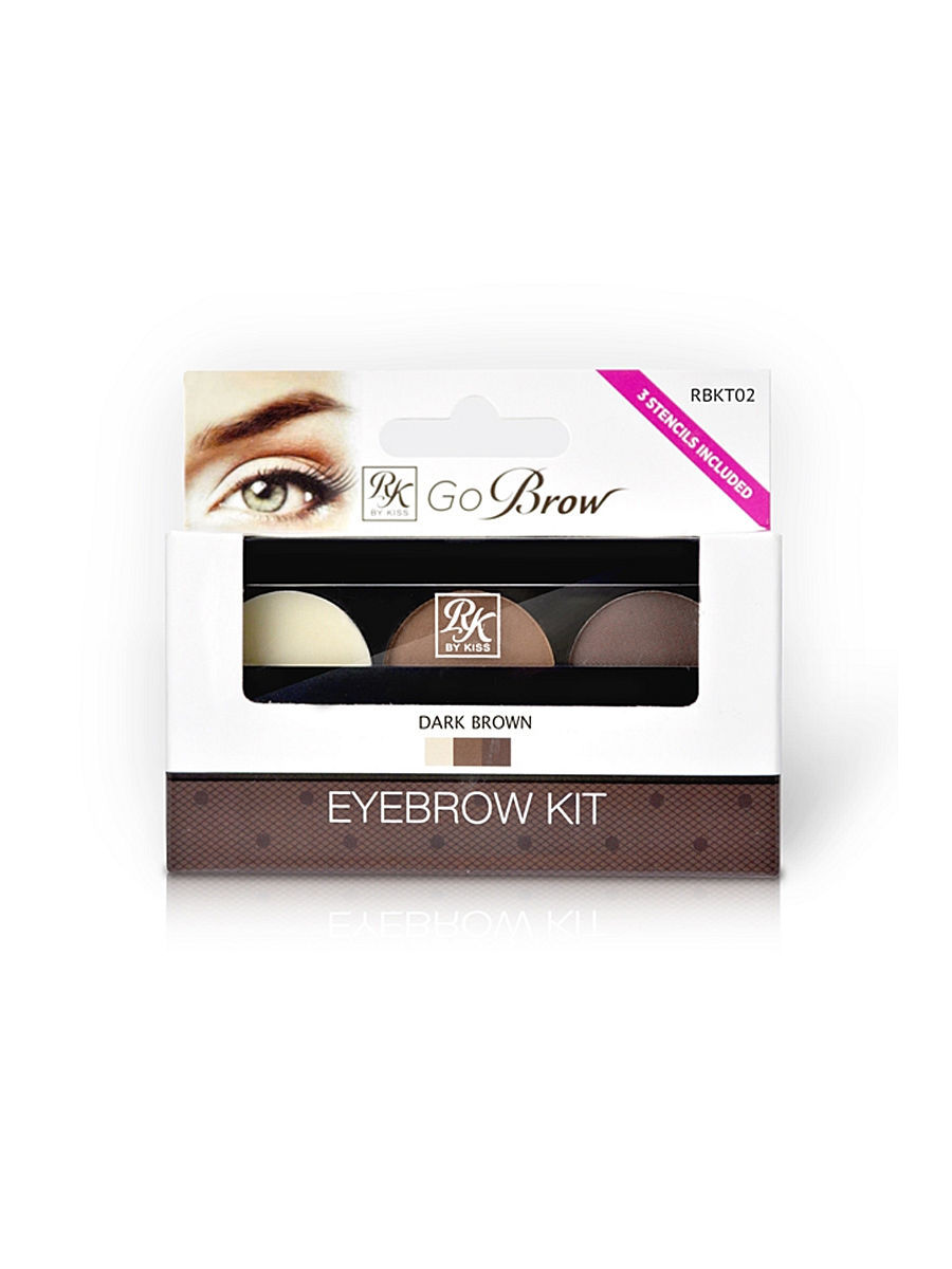 Наборы декоративной косметики Kiss Kiss Набор для моделирования бровей Go Brow Dark Brown Brow Kit Go Brow RBKT02 genuine skg aluminum smart table trex ch412a aluminum temperature control device trexch412a