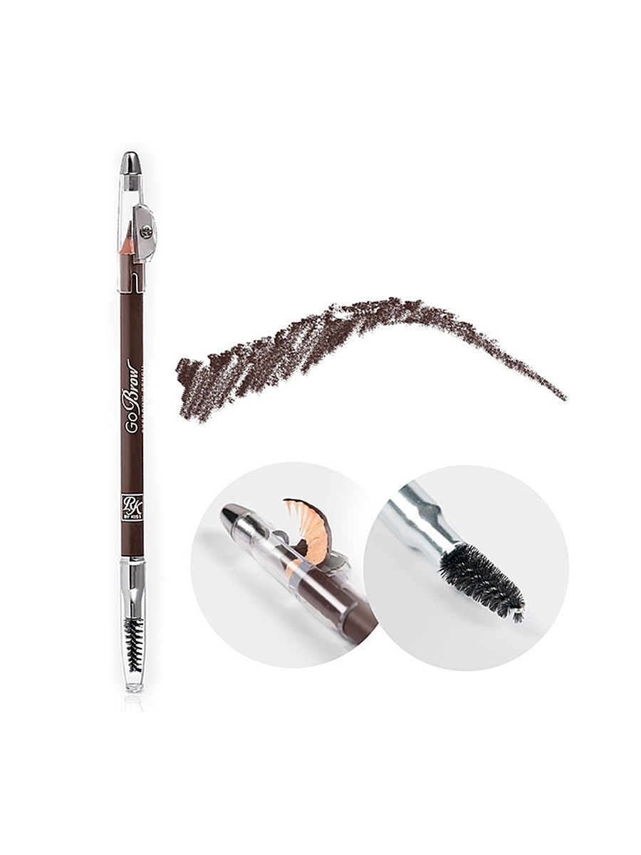 Kiss Карандаш для бровей с точилкой Chocolate Brow wooden pencil RBWP03