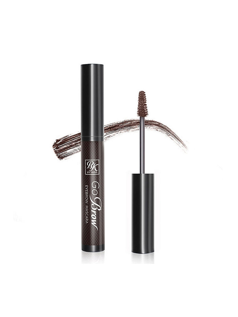 Туши Kiss Kiss Тушь для бровей  Dark Brown Eyebrow mascara RBM02 тушь для бровей kiss go brow eyebrow mascara 6 мл black dark brown
