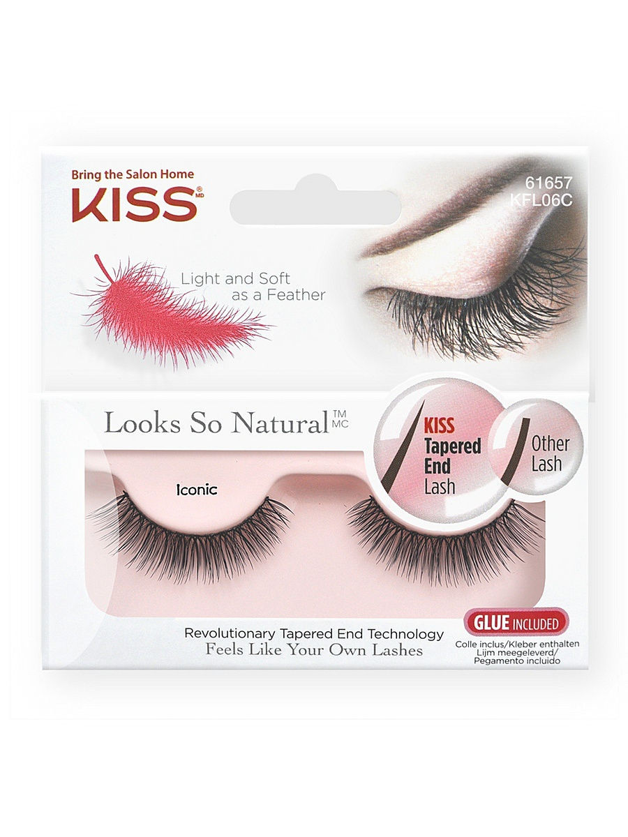 Kiss Looks so Natural ��������� ������� Eyelashes Iconic KFL06C 12-639