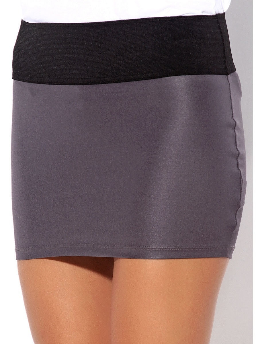 Мини-юбка Punk Queen SKIRT-GREY