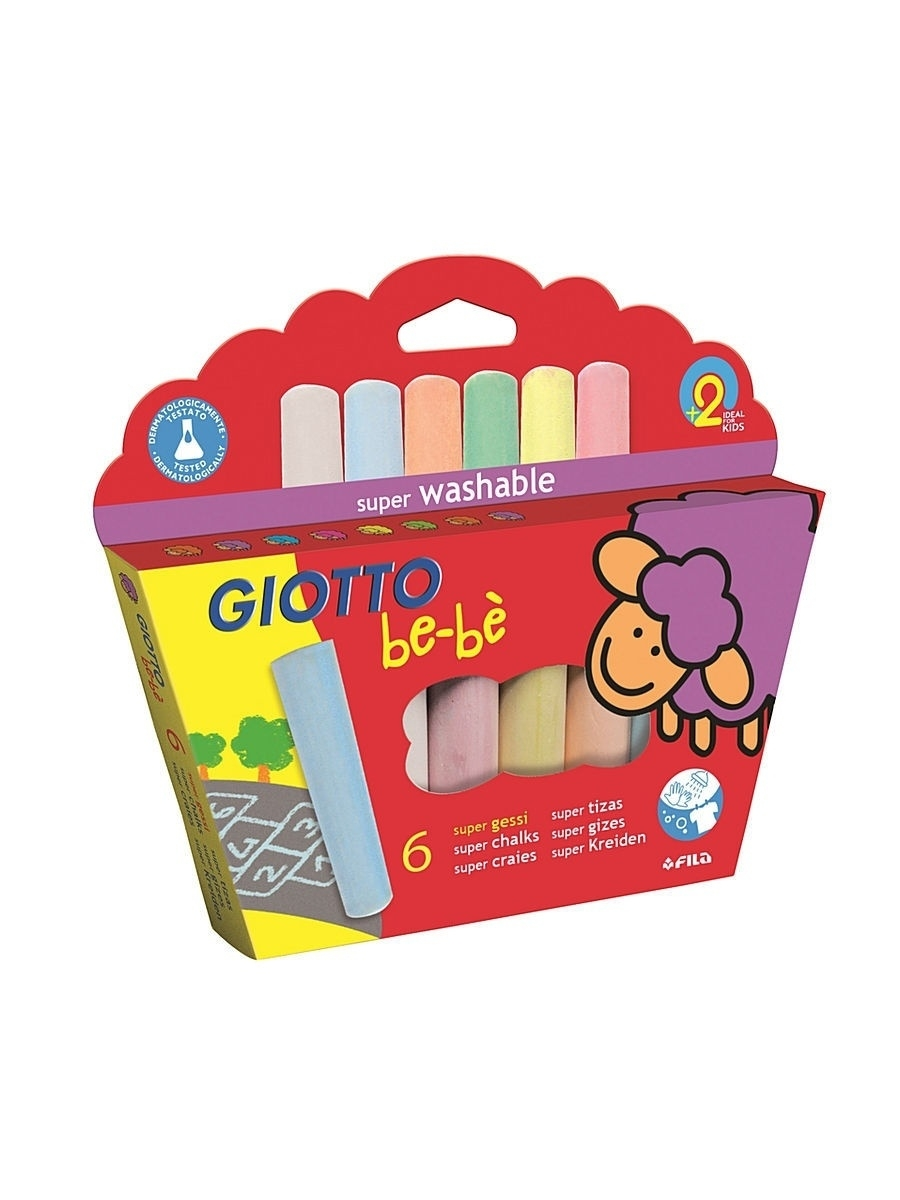 Мелки Fila. Giotto BE-BE SUPER CHALK Мел д/асфальта 6цв. be be056cuite52 be