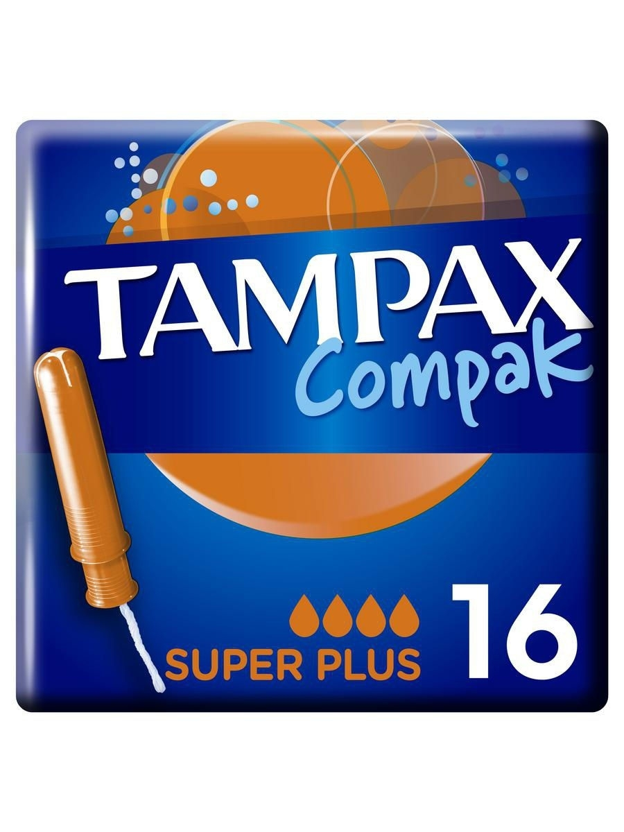Тампоны гигиенические TAMPAX Гигиенические тампоны Compak Super Plus 16шт. tampax compak super duo tm 83730736 16шт