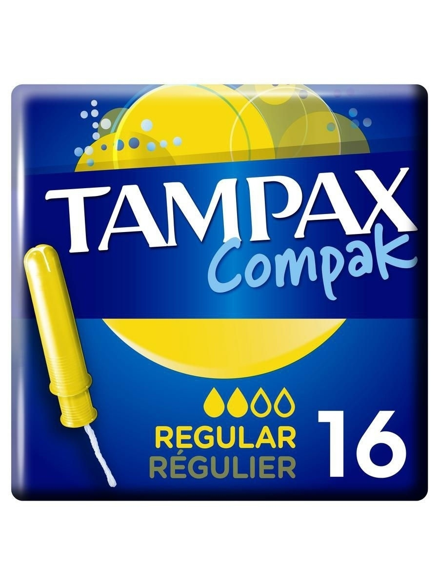 Тампоны гигиенические TAMPAX Гигиенические тампоны Compak Regular 16шт. tampax compak super duo tm 83730736 16шт