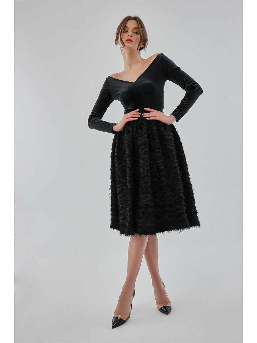 Платья Katya Erokhina Платье Reef Black юбки katya erokhina юбка blair skirt