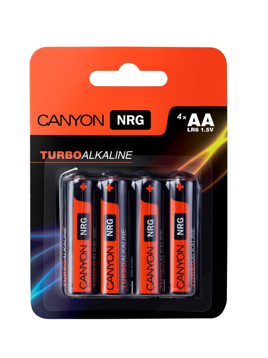 Батарейки, Canyon NRG alkaline battery AA, 4pcs/pack.