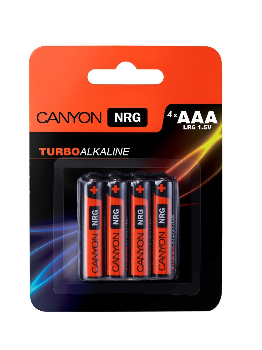 Батарейки, Canyon NRG alkaline battery AAA, 4pcs/pack.
