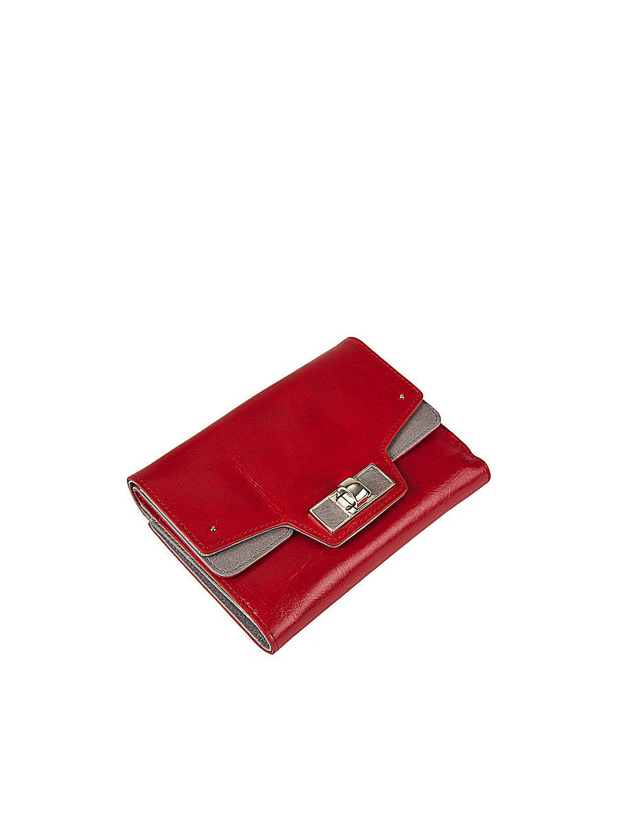 Кошелек Eleganzza Z4051-3849/red/l.grey