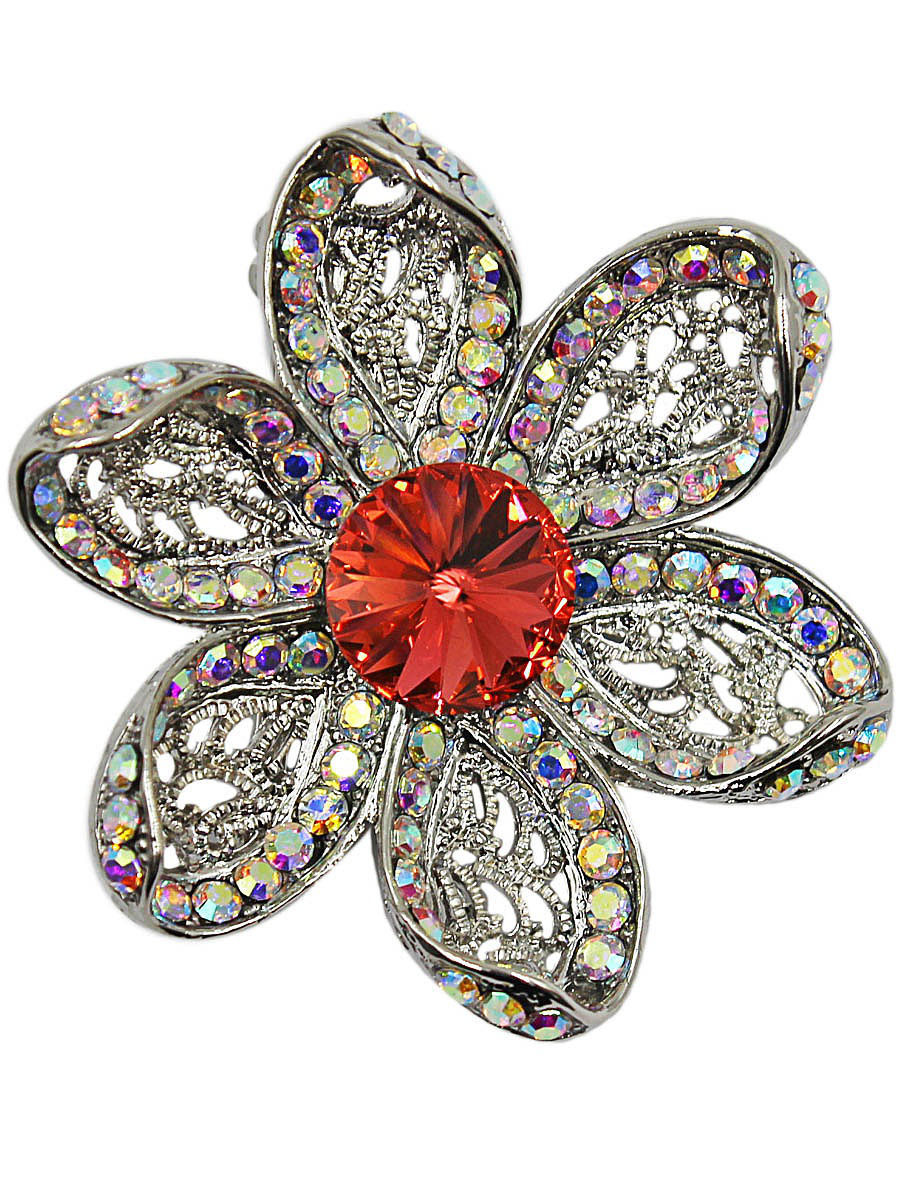 Брошь Taya T-B-11593-BROOCH-SL.RED