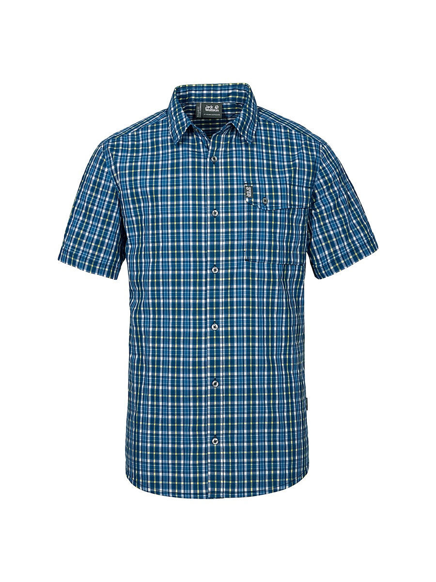 Рубашки Jack Wolfskin Рубашка CROSSLEY SHORTSLEEVE SHIRT M рубашка jack wolfskin jack wolfskin ja021ewpdq64