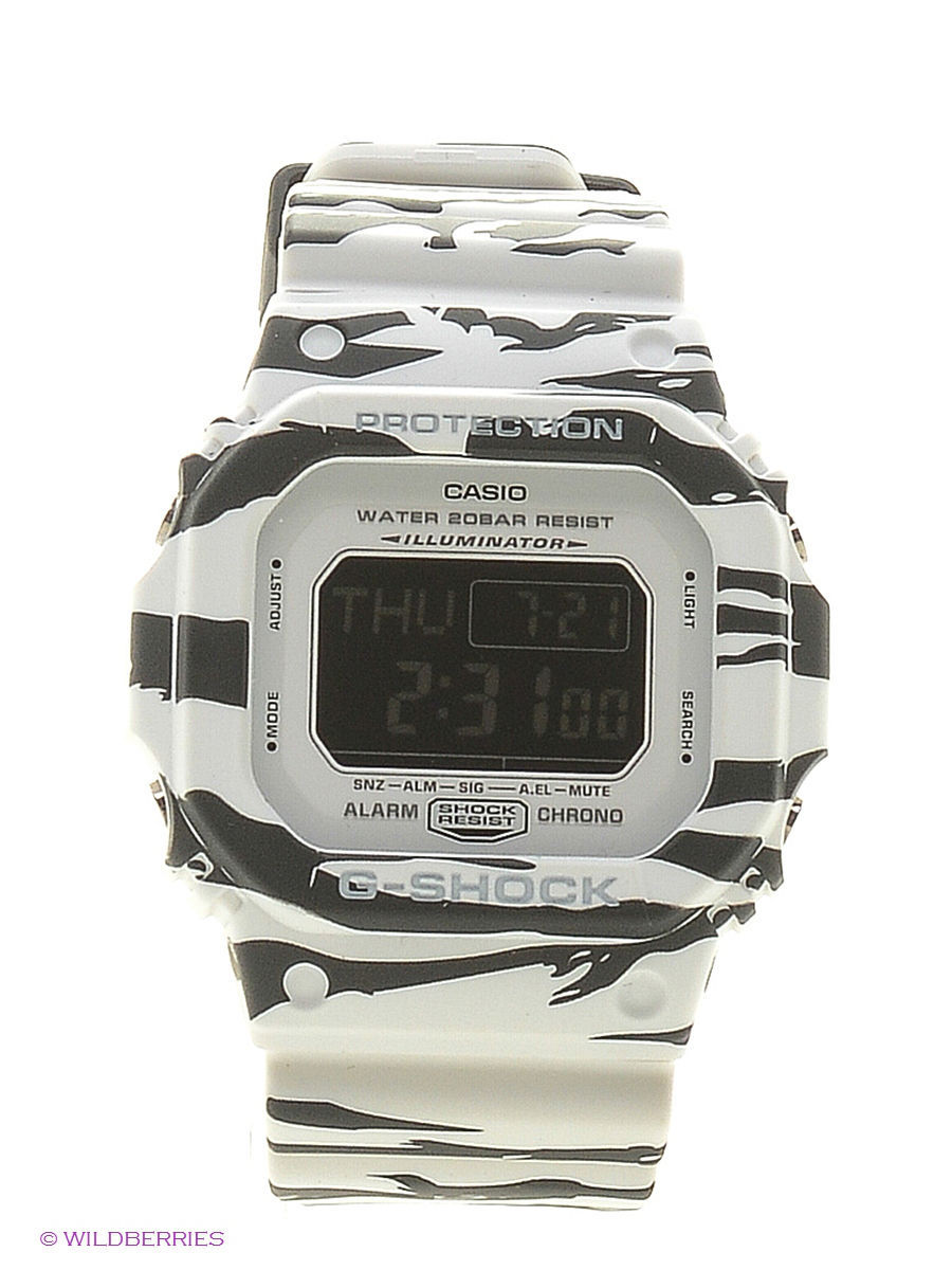 Часы наручные CASIO Часы G-Shock DW-D5600BW-7E casio g shock 5600