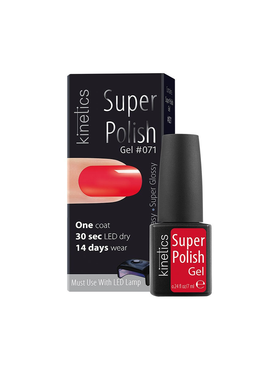 Гель-лаки Kinetics Однофазный гель-лак Super Polish, 7 мл, тон № 071 Summer Passion ibd гелевый лак бульвар сансет 56787 ibd just gel polish sunset strip 19400 124 14 мл