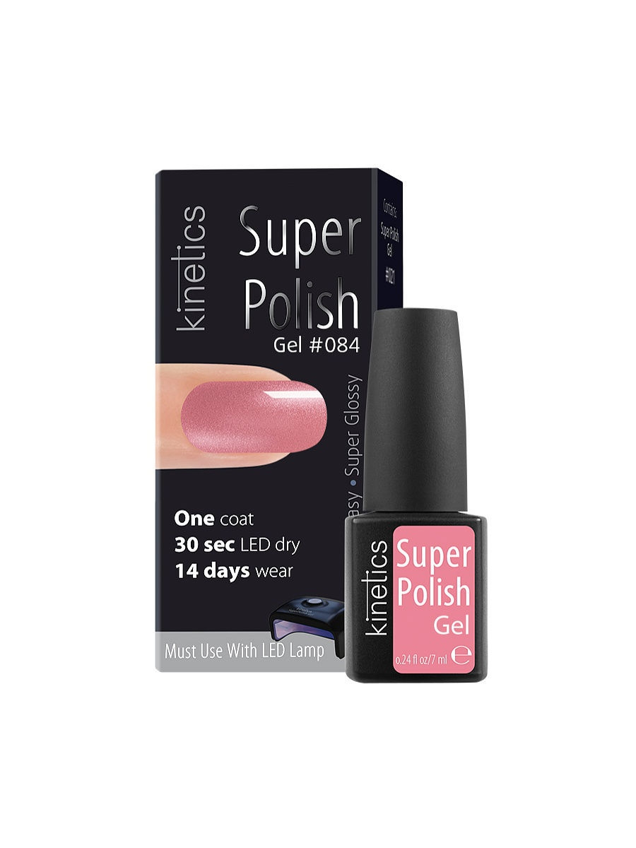 Гель-лаки Kinetics Однофазный гель-лак Super Polish, 7 мл, тон № 084 Sparkling Cutie ibd гелевый лак бульвар сансет 56787 ibd just gel polish sunset strip 19400 124 14 мл