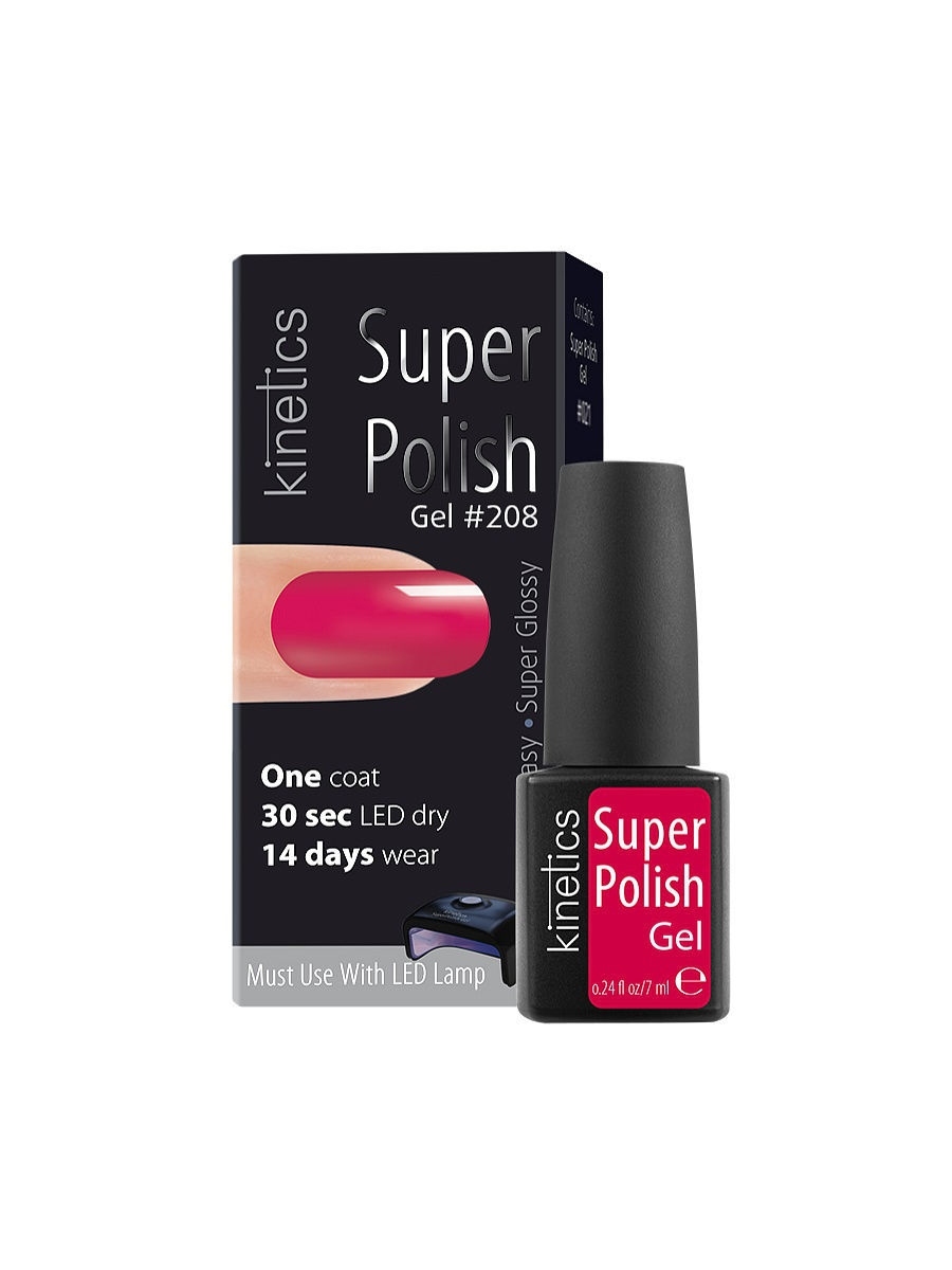 Гель-лаки Kinetics Однофазный гель-лак Super Polish, 7 мл, тон № 208 Jazz Lips ibd гелевый лак бульвар сансет 56787 ibd just gel polish sunset strip 19400 124 14 мл