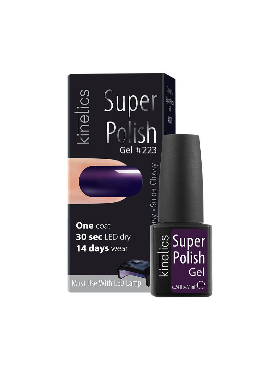 Гель-лаки Kinetics Однофазный гель-лак Super Polish, 7 мл, тон № 223 Royal Ink ibd гелевый лак бульвар сансет 56787 ibd just gel polish sunset strip 19400 124 14 мл