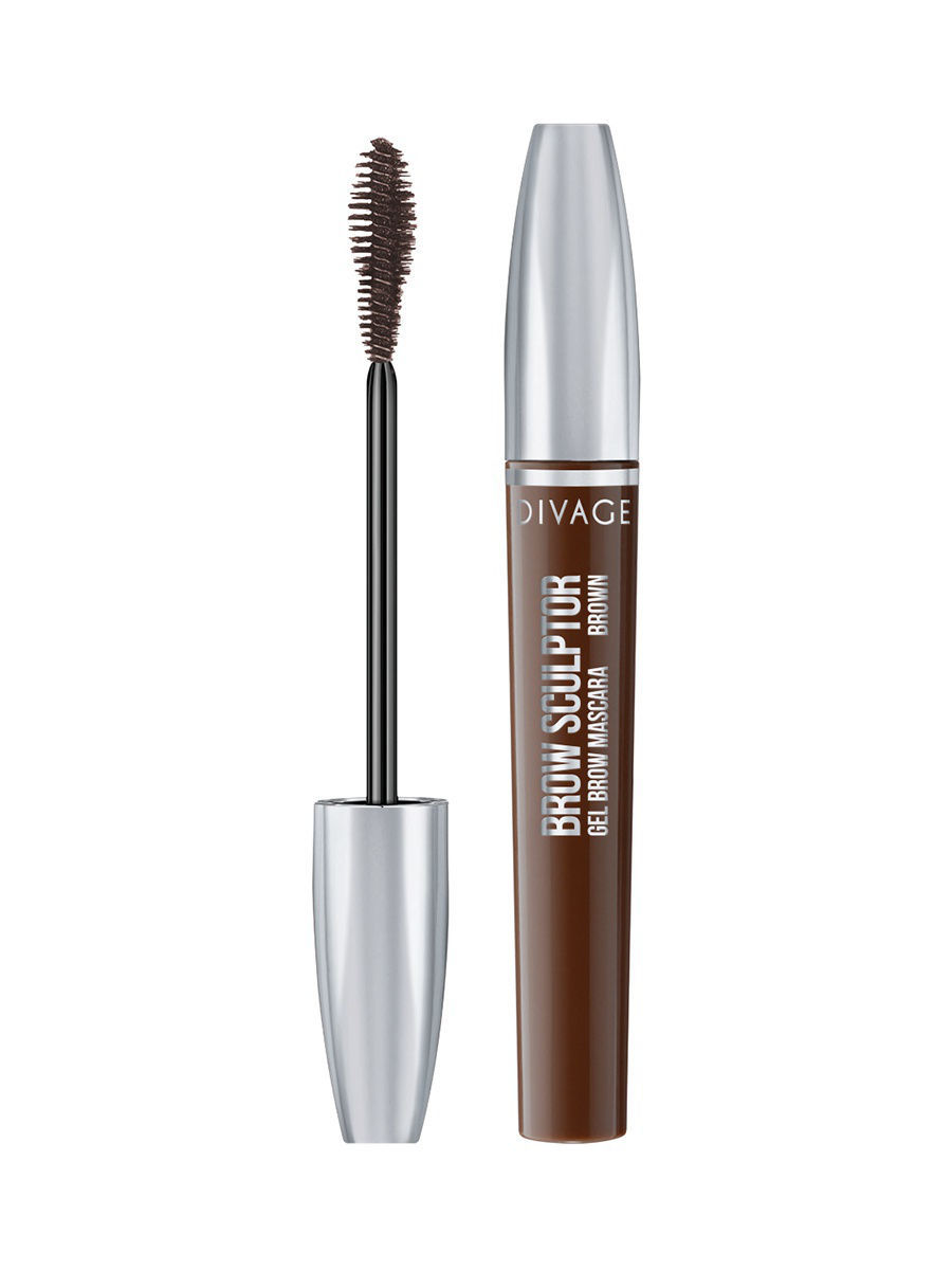 Тушь для бровей BROW SCULPTOR GEL BROWN, тон 01 DIVAGE