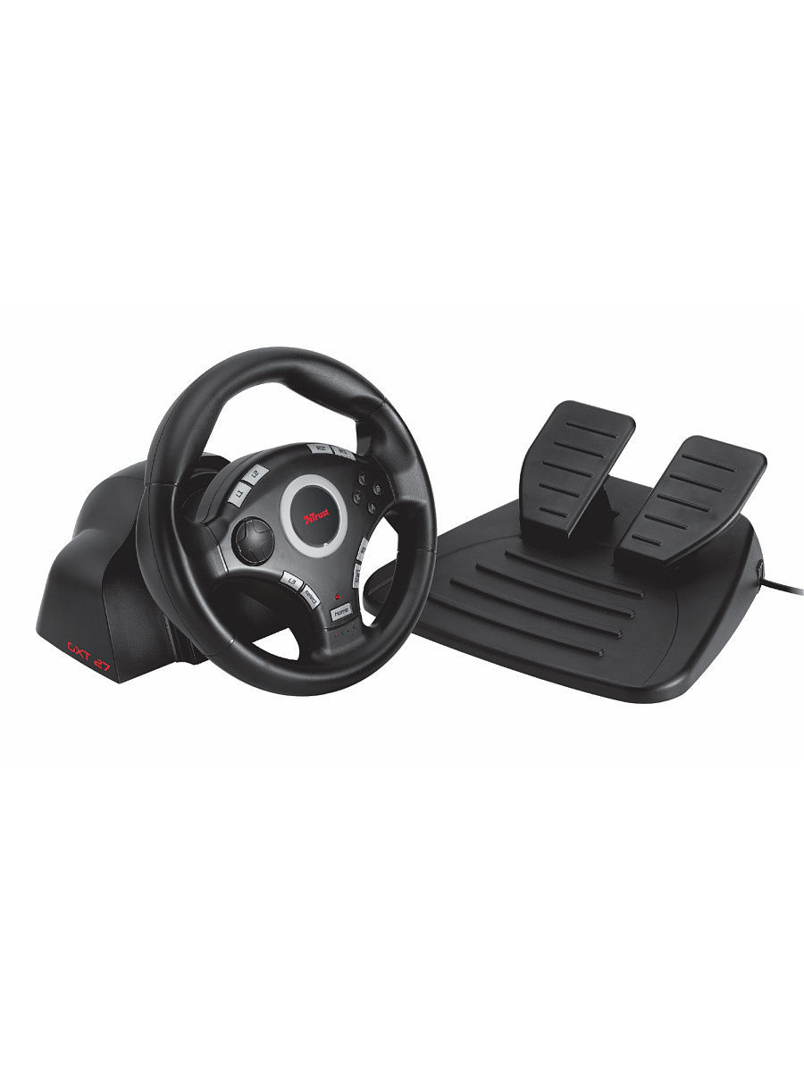 Геймпады Trust Игровой комплект Trust GXT 27 Force Vibration Steering Wheel (for PS3/2 & PC) 2017 wired usb vibration feedback racing wheel for ps3 steering wheel work for xbox 360 ps2 ps3 pc 3 in 1 with free shipping
