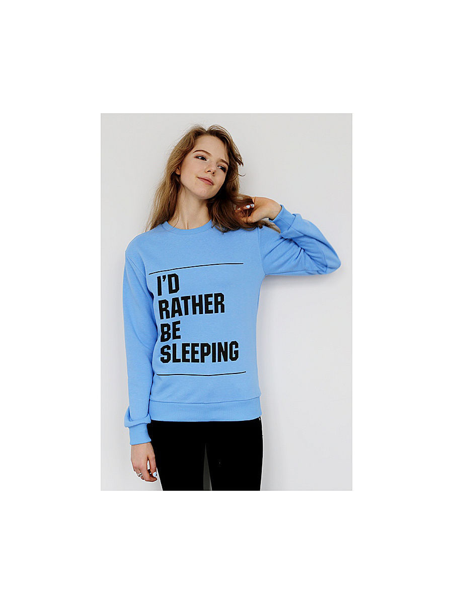 Свитшоты Kawaii Factory Свитшот Sleeping blue (KW1) kawaii factory свитшот sarcasm kw1