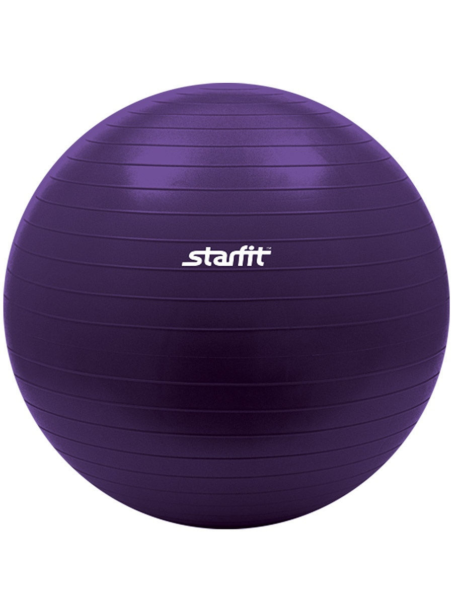 Мячи спортивные Starfit Мяч гимнастический STARFIT GB-101 75 см, фиолетовый (антивзрыв) 1/10 2016 new girls dress cotton summer style sleeveless children dress party dresses for 2 7 years kids toddler vestidos kf509