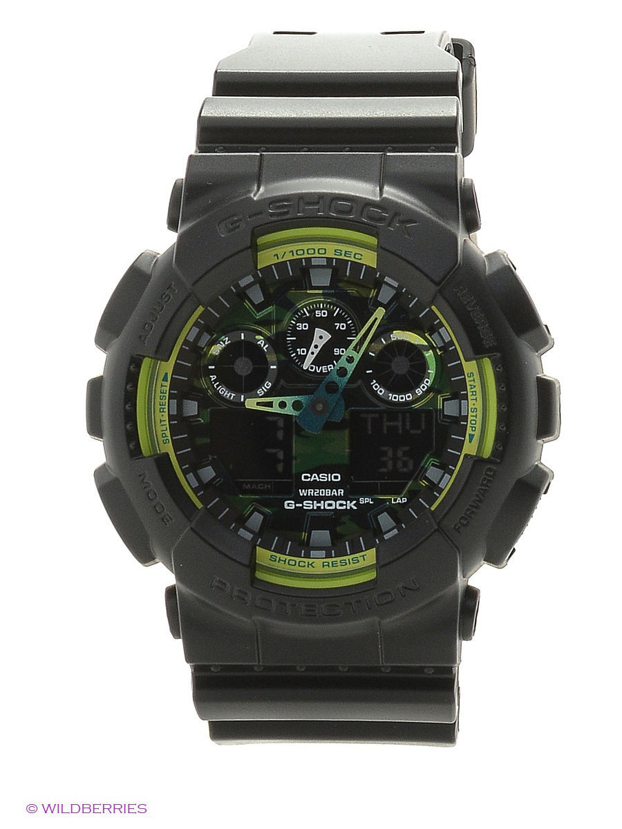 Часы наручные CASIO Часы G-Shock GA-100LY-1A casio g shock ga 150 1a
