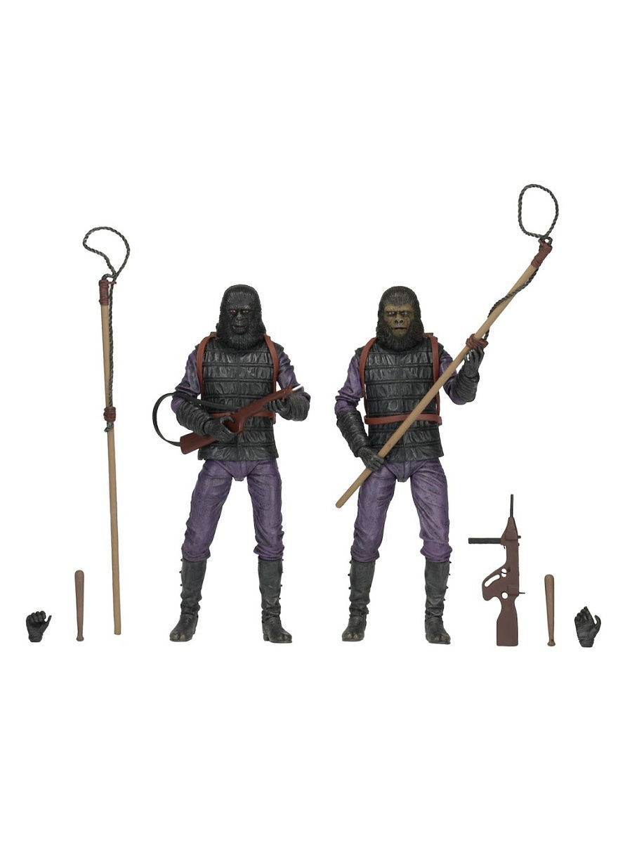 "Planet of the Apes - 7"" Action Figure - Classic Gorilla Soldier 2 Pack Neca 30075"