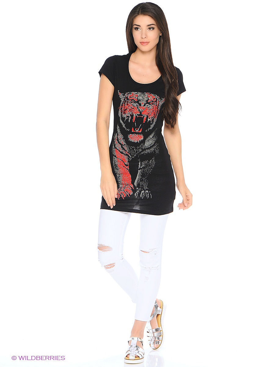 Туника Punk Queen 13W9211-BLACK-RED
