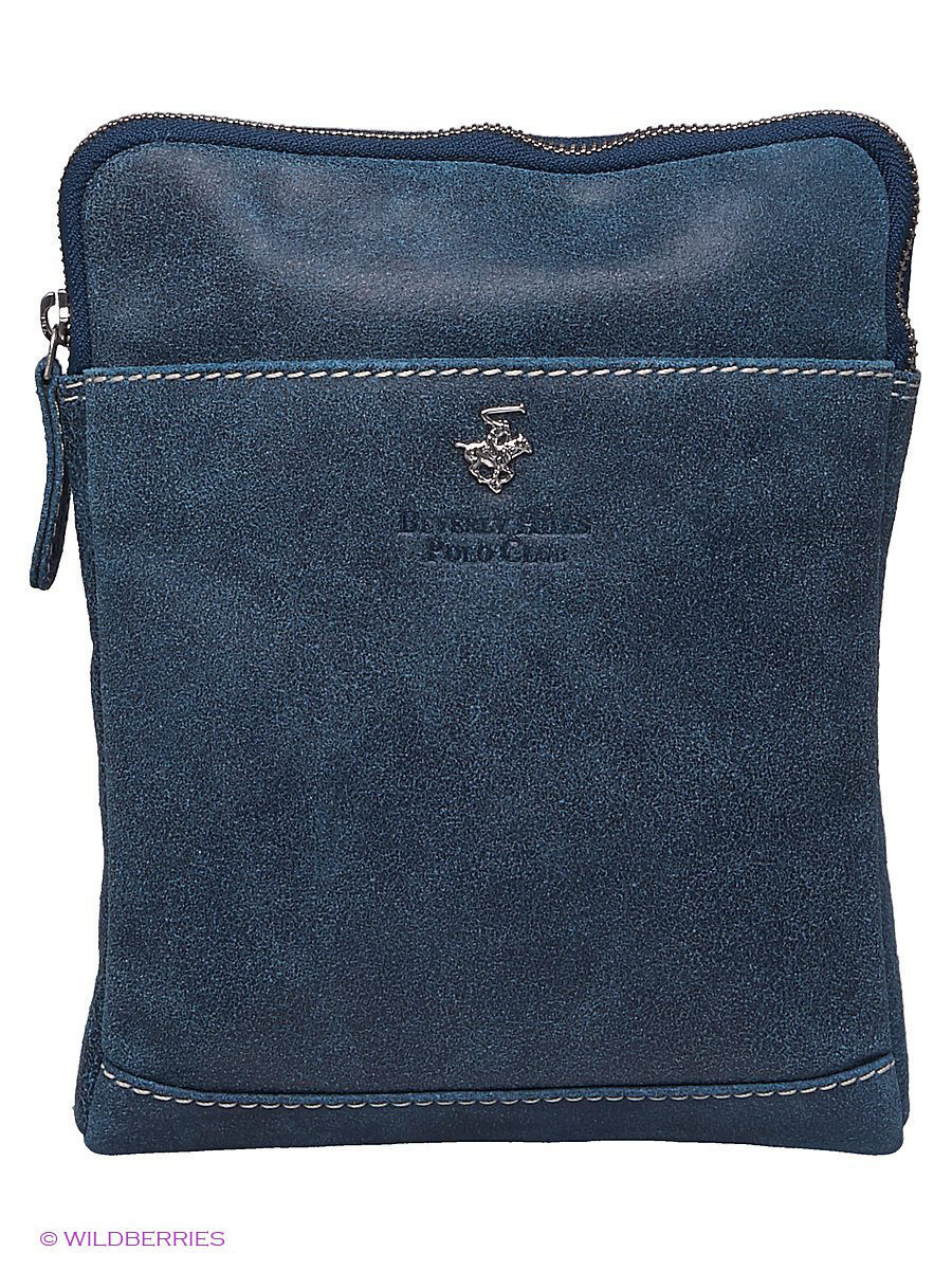 Кожаная сумка Beverly Hills Polo Club 320_blue: изображение 1