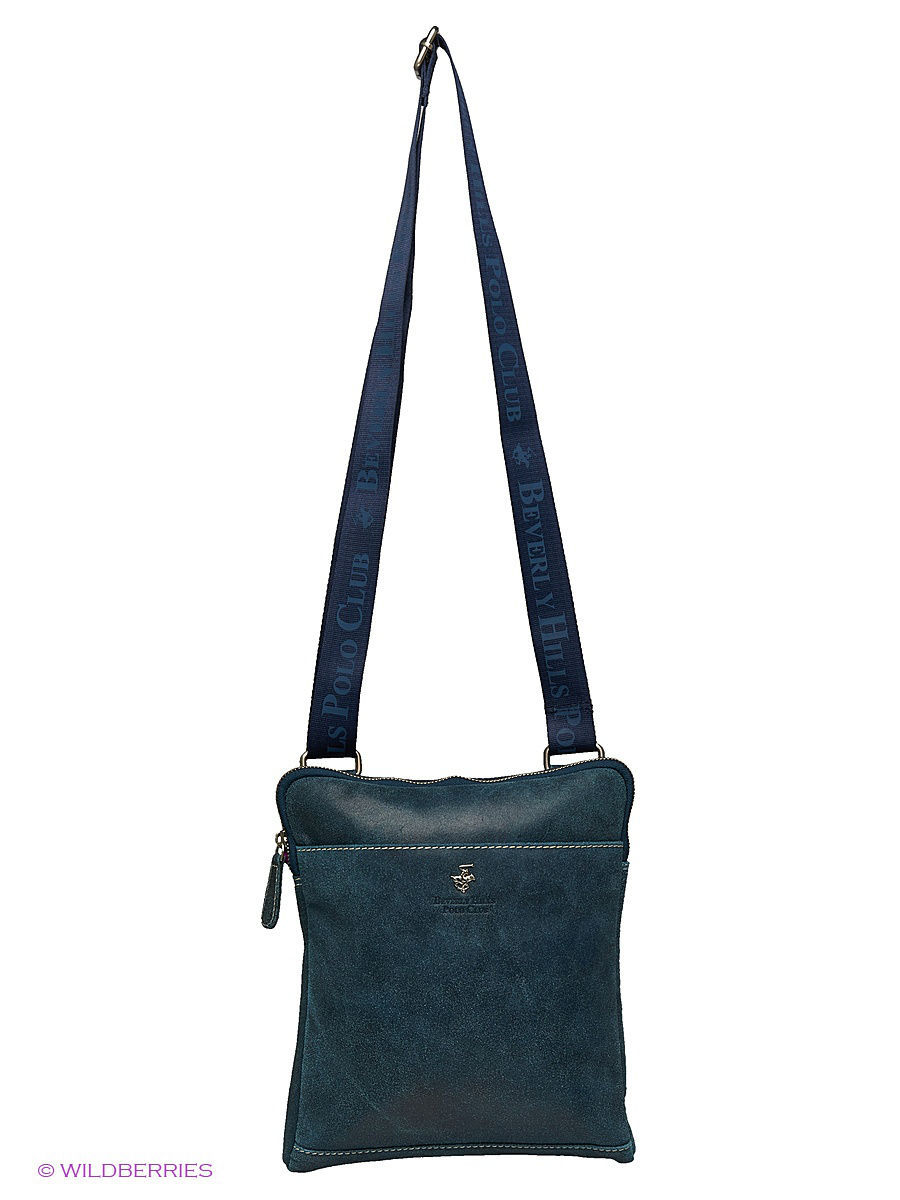 Кожаная сумка Beverly Hills Polo Club 321_blue: изображение 6