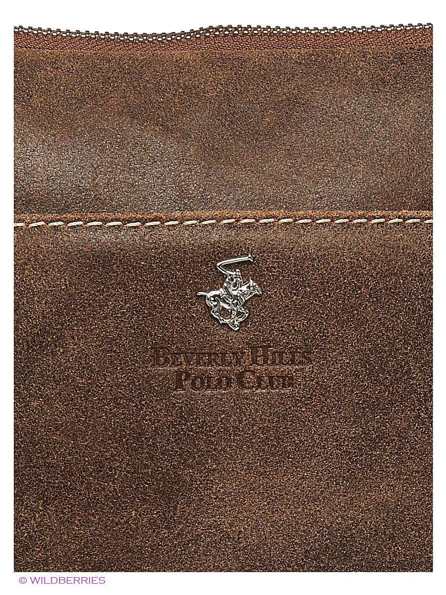 Кожаная сумка Beverly Hills Polo Club 321_marro: изображение 4
