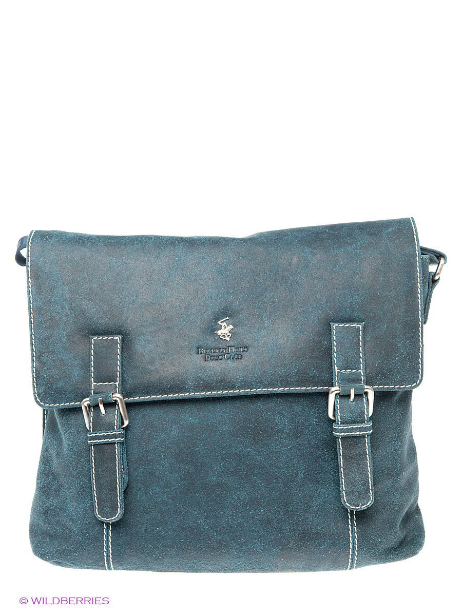 Кожаная сумка Beverly Hills Polo Club 323_blue: изображение 1