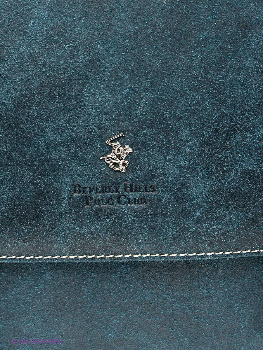 Кожаная сумка Beverly Hills Polo Club 323_blue: изображение 6