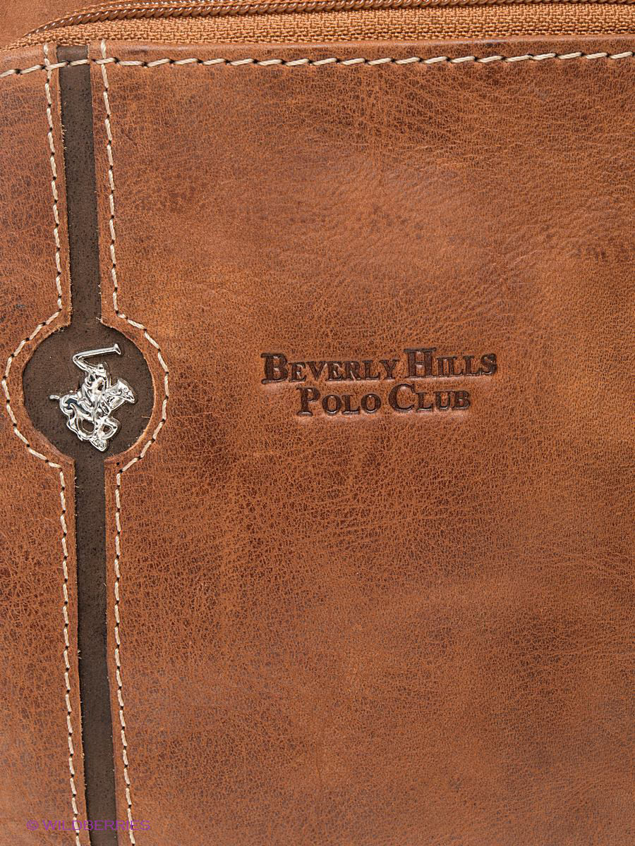 Кожаная сумка Beverly Hills Polo Club 380_brandy: изображение 5