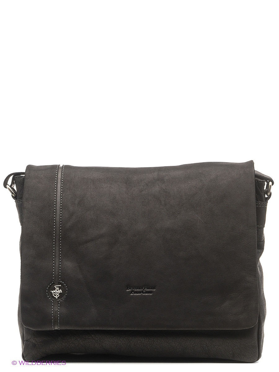 Кожаная сумка Beverly Hills Polo Club 384_nero