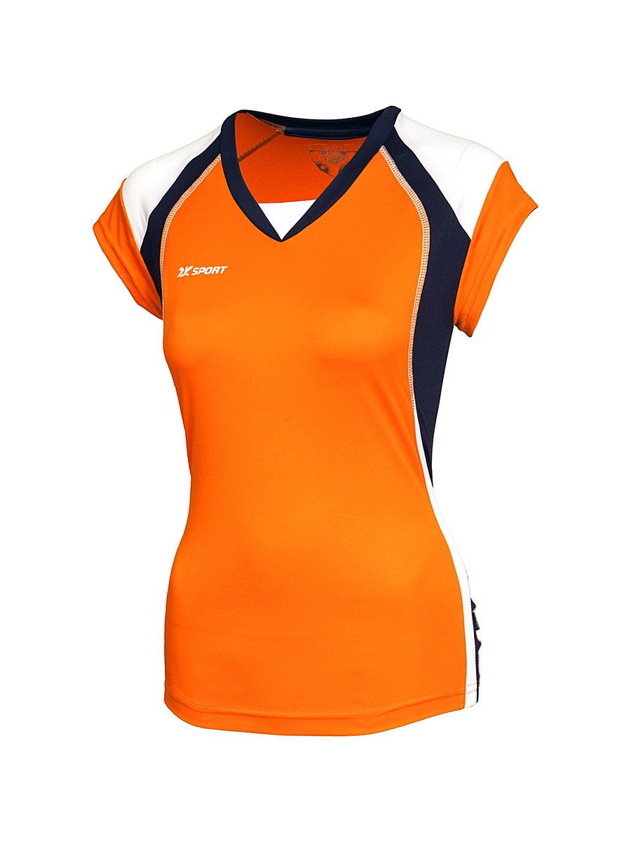 Спортивная футболка 2K 140042/orange/navy/white