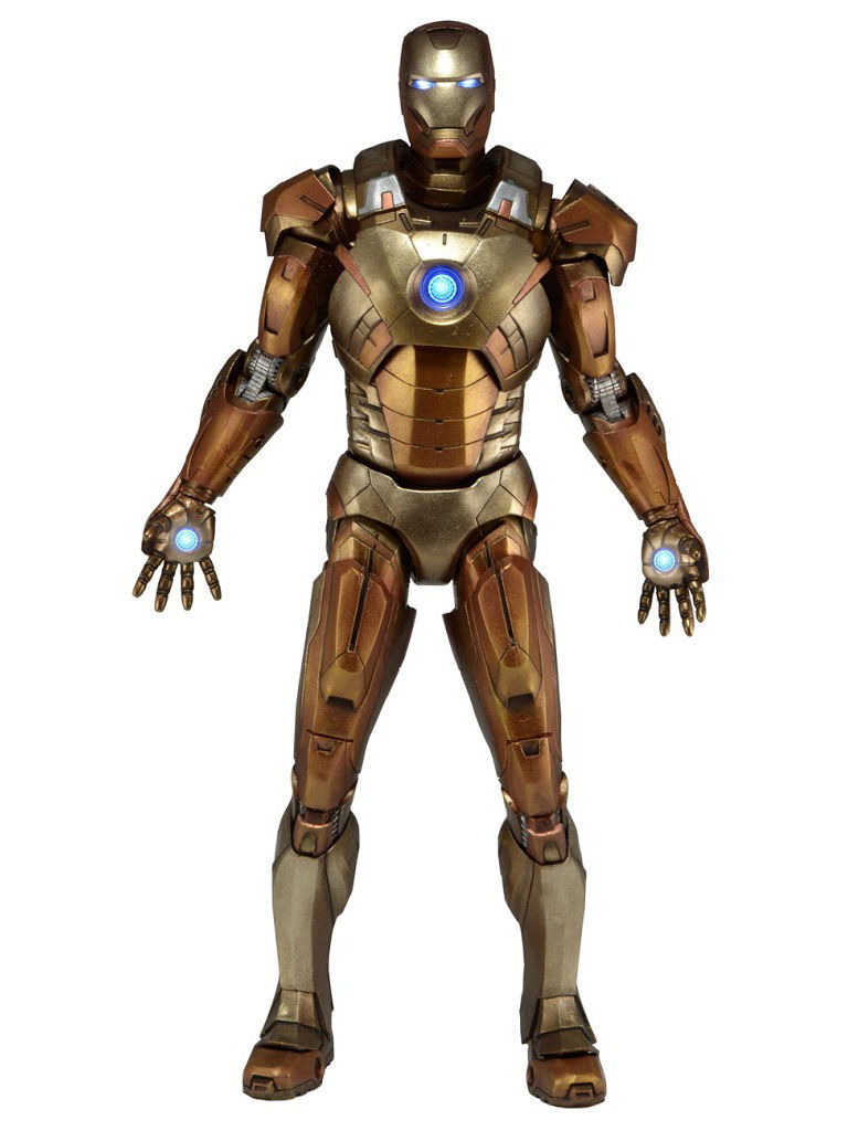 Фигурки-игрушки Neca Фигурка Avengers 1/4 Iron Man Mark XXI - Midas Version (Gold Armor)
