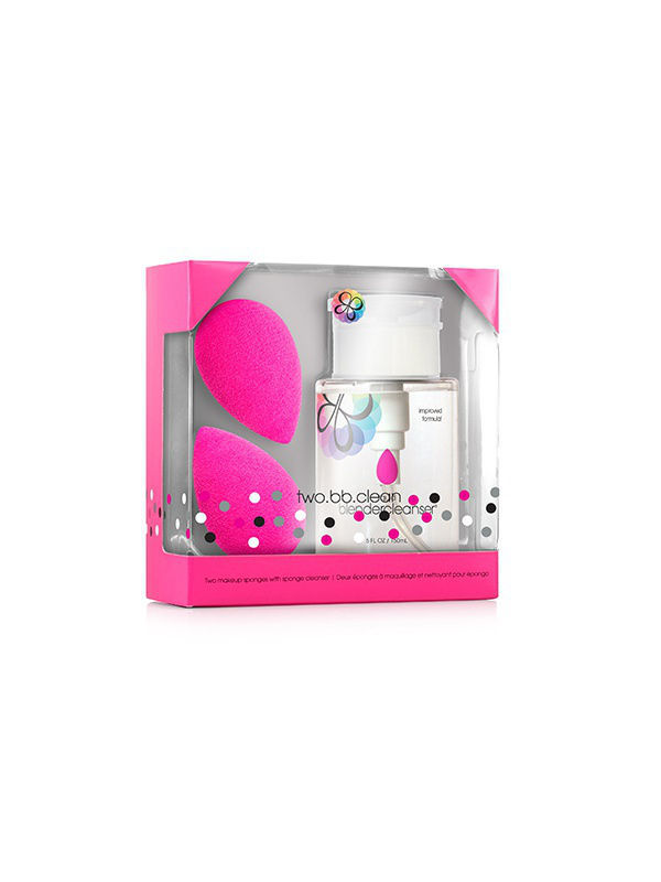 Спонжи Beautyblender Спонж Beautyblender 2 спонжа original и очищ гель blendercleanser 150 мл спонжи beautyblender спонж beautyblender original и мини мыло для очистки solid blendercleanser