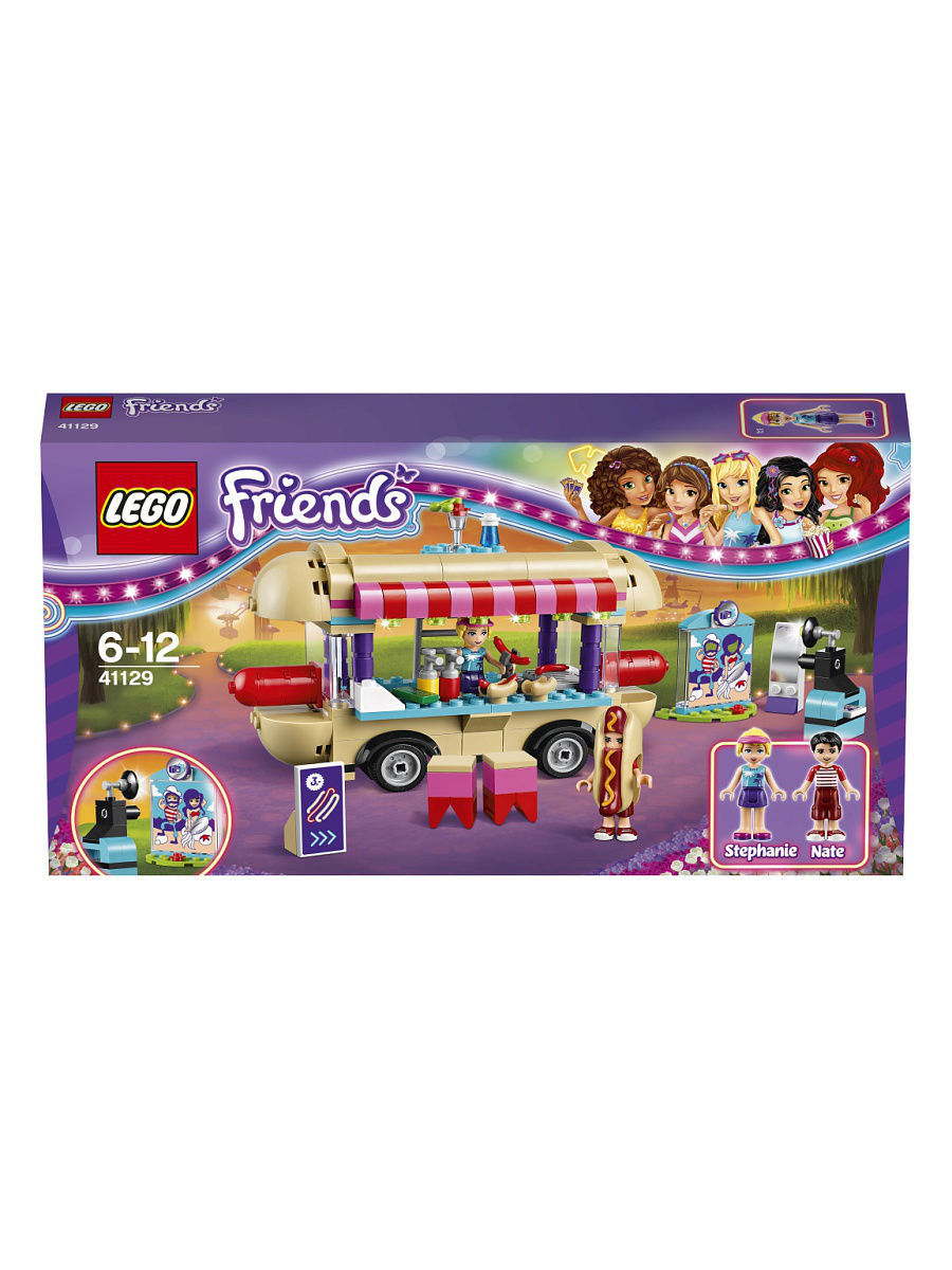 Конструкторы Lego LEGO LEGO Friends Парк развлечений: фургон с хот-догами 41129 lego friends 41129 парк развлечений фургон с хот догами