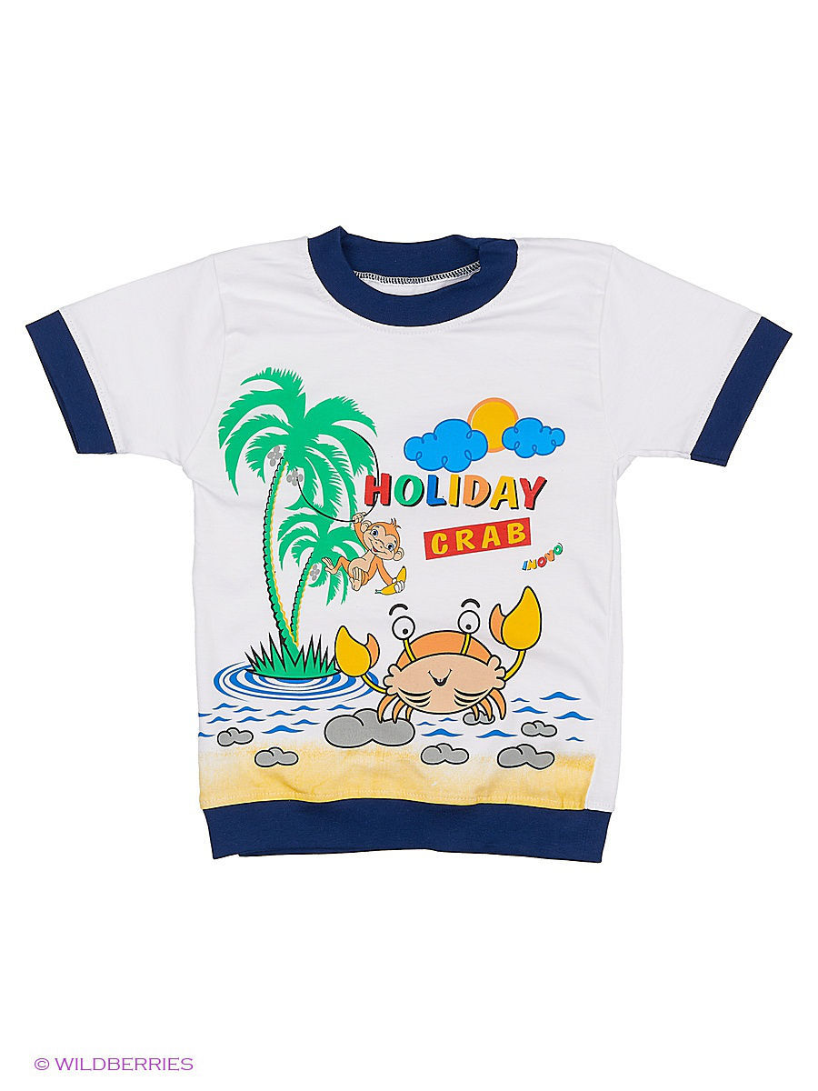 Футболка Babycollection ИН65/2/белый,синий: изображение 1