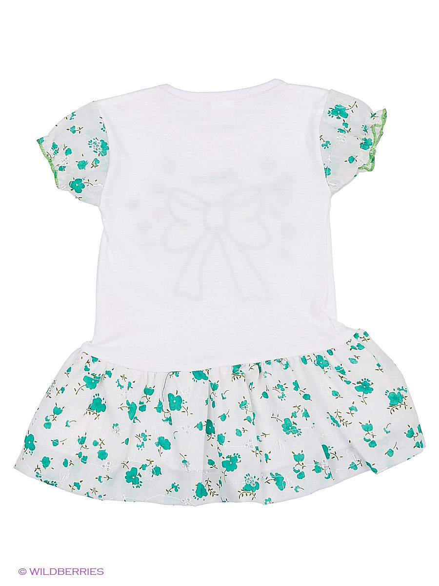 Платье Babycollection Baby285/2/зеленый,белый: изображение 2