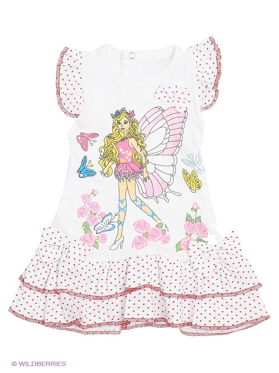 Платье Babycollection Baby410/1/белый,красный: изображение 1