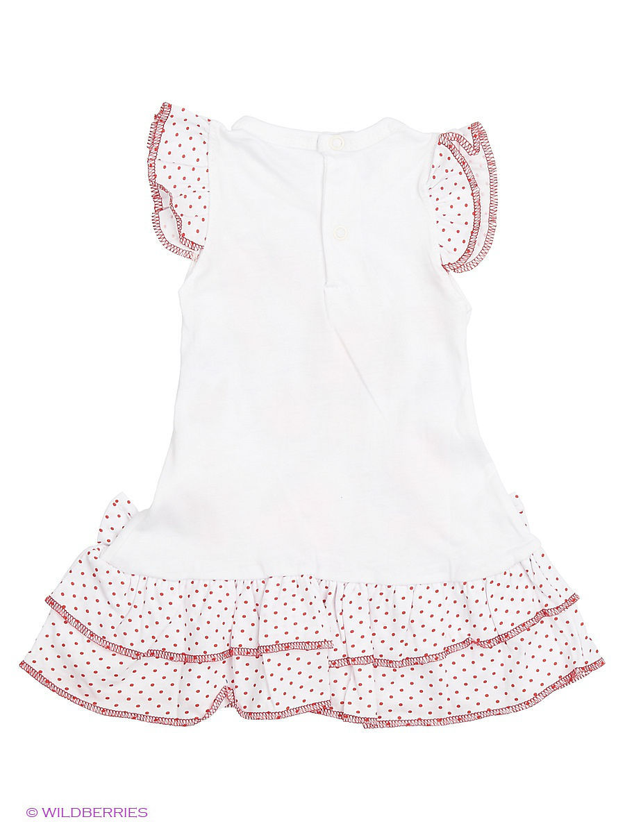 Платье Babycollection Baby410/1/белый,красный: изображение 2