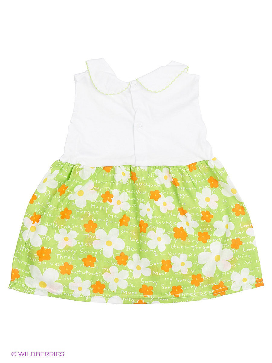 Платье Babycollection Baby443/белый,зеленый: изображение 2