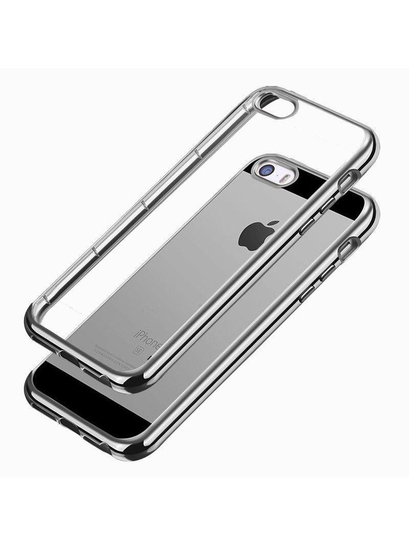 Чехлы для телефонов skinBOX Накладка silicone chrome border 4People для Apple iPhone 5/5S/5SE аксессуар чехол накладка samsung galaxy a3 2017 skinbox silicone chrome border 4people silver t s sga32017 008