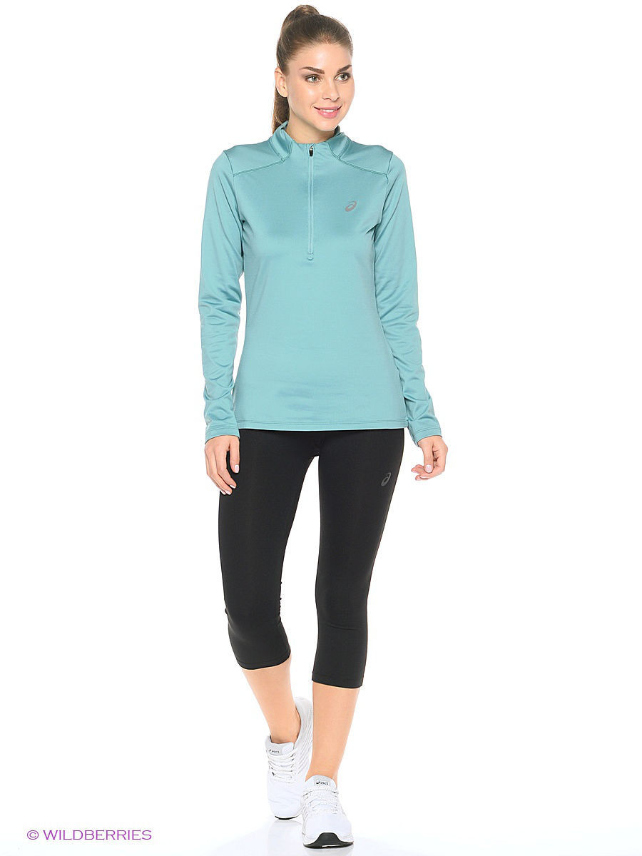 Лонгслив ASICS Лонгслив Ess Winter 1/2 Zip лонгслив для бега женский asics ess winter 1 2 zip цвет черный 134109 0904 размер xs 40 42