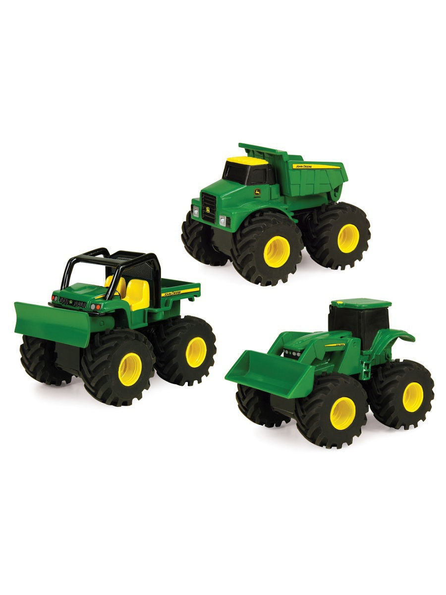 Машинки TOMY Машинка Tomy John Deere реверсивные Monster Treads tomy